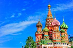 モスクワの写真 セントバジルの大聖堂